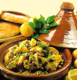 moroccan cuisine - The chicken and potted lemon tajine recipe